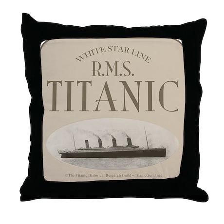 RMS TItanic Throw Pillow