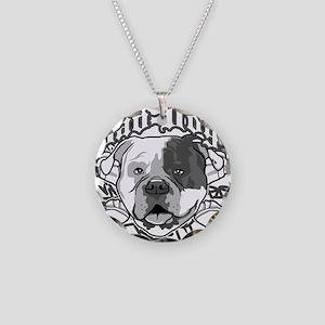 AMERICAN BULLDOG Necklace Circle Charm