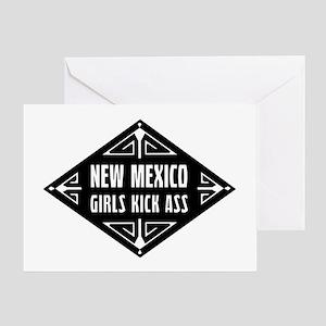 New Mexico Girls Kick Ass Greeting Card