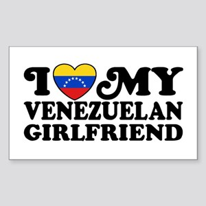I Love My Venezuelan Girlfriend Sticker (Rectangle