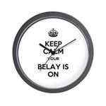 Keep Calm Belay is On Wall Clock