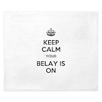 Keep Calm Belay is On King Duvet