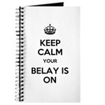 Keep Calm Belay is On Journal