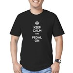Keep Calm and Pedal On Men's Fitted T-Shirt (dark)