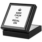 Keep Calm and Pedal On Keepsake Box