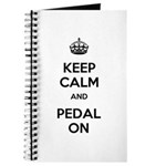 Keep Calm and Pedal On Journal