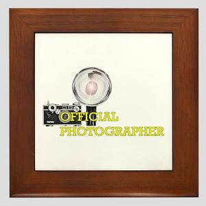 OFFICIAL PHOTOGRAPHER- Framed Tile