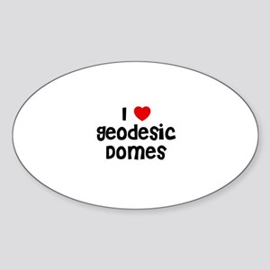 I * Geodesic Domes Oval Sticker