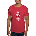 Keep Calm and Rock On Dark T-Shirt