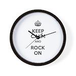 Keep Calm and Rock On Wall Clock