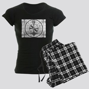 1950's TV Test Pattern Women's Dark Pajamas