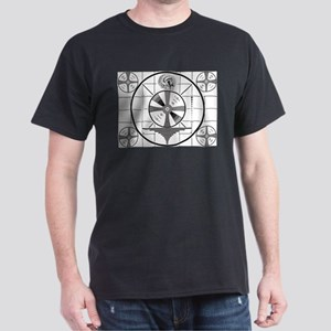 1950's TV Test Pattern Dark T-Shirt