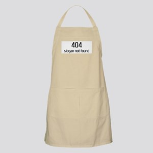 404 slogan not found BBQ Apron