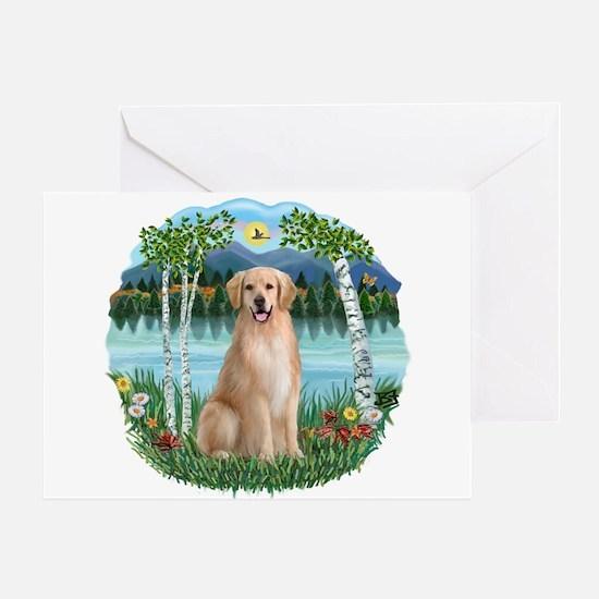 Birches-Golden#8 Greeting Card