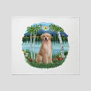 Birches-Golden#8 Throw Blanket