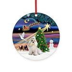 Xmas Magic & White Havanese Ornament (Round)