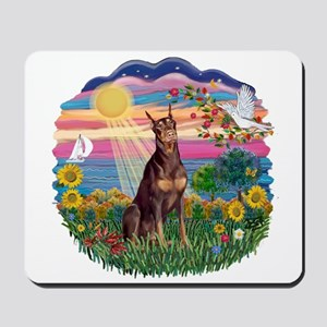 AutumnSun-Red Dobie Mousepad