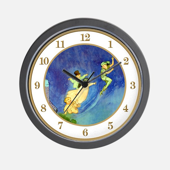 Peter Pan, Wendy, John & Michael Wall Clock