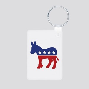 Democrat Donkey Aluminum Photo Keychain