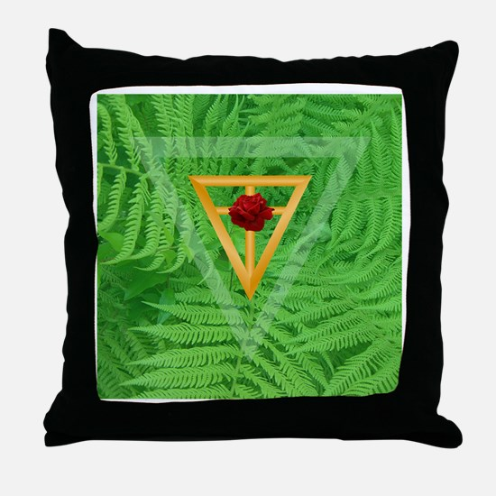 """""""Garden of Peace"""" Throw Pillow"""