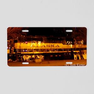 Alaska Railroad #02 Aluminum License Plate
