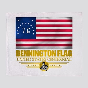 """Bennington Flag"" Throw Blanket"