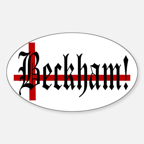 BECKHAM! Oval Decal
