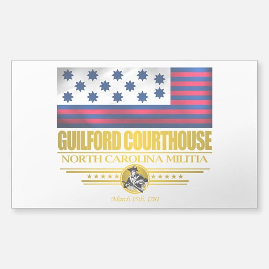 """""""Guilford Courthouse"""" Sticker (Rectangle)"""