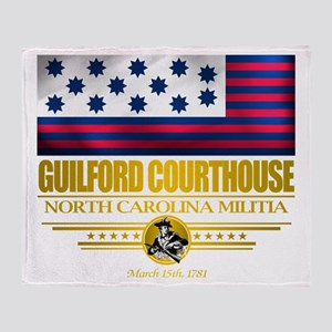 """Guilford Courthouse"" Throw Blanket"