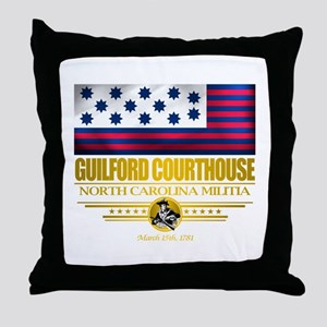 """Guilford Courthouse"" Throw Pillow"