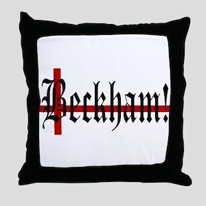 BECKHAM! Throw Pillow