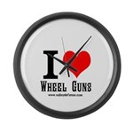 Wheel gun Large Wall Clock