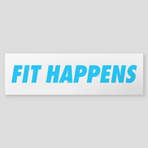 Fit Happens Blue Sticker (Bumper)