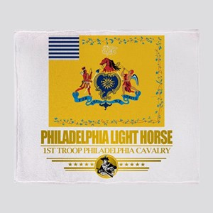 """Philadelphia Light Horse"" Throw Blanket"