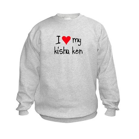 I LOVE MY Kishu Ken Kids Sweatshirt