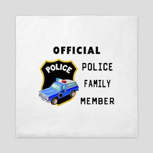 Police Family Member Queen Duvet