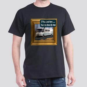 (Framed RV) If You Lived Here Black T-Shirt