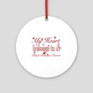 Black Russian Terrier Dog Designs Ornament (Round)