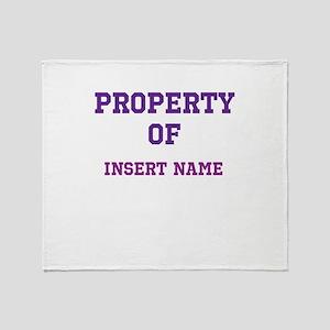 Customizable (Property Of) Throw Blanket