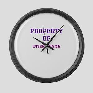 Customizable (Property Of) Large Wall Clock