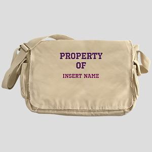 Customizable (Property Of) Messenger Bag