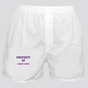 Customizable (Property Of) Boxer Shorts