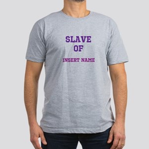 Customizable (Slave Of) Men's Fitted T-Shirt (dark
