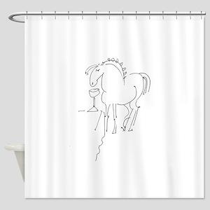 Pony Buddy Shower Curtain