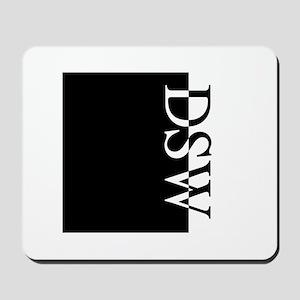 DSW Typography Mousepad