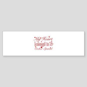 Cocker Spaniel Dog Designs Sticker (Bumper)