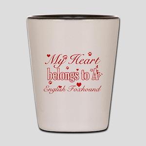 English Foxhound Dog Designs Shot Glass
