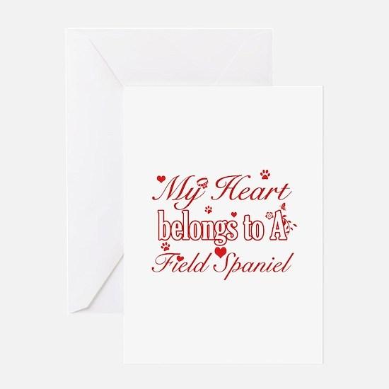 Field Spaniel Dog Designs Greeting Card