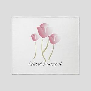 Retired Teacher IV Throw Blanket