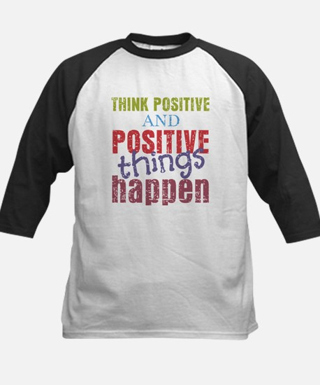 Think Positive and Positive T Kids Baseball Jersey